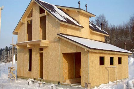 Construction of houses from CIP panels
