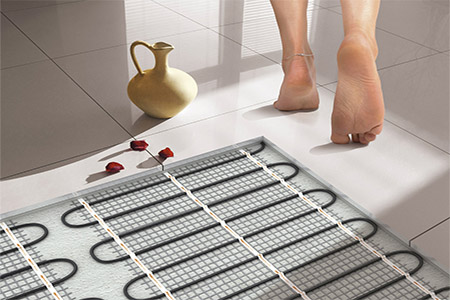 Installation of heated floor